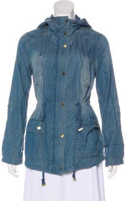 Michael Kors Hooded Denim Jacket