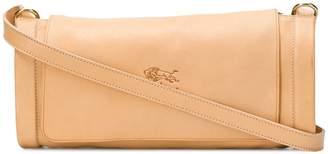Il Bisonte embossed logo cross-body bag