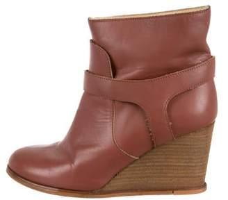 Maison Margiela Leather Wedge Boots