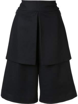 Y-3 wide-legged knee-length shorts