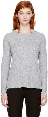 A.P.C. Grey Long Sleeve Lara T-Shirt