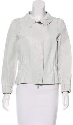 Oscar de la Renta Perforate Leather Jacket w/ Tags