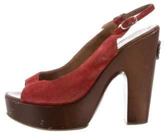 Chanel Platform Slingback Sandals