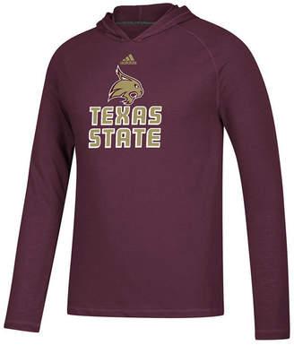 adidas Men's Texas State Bobcats Mark My Words Long Sleeve Hooded T-Shirt