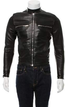 Saint Laurent Leather Cafe Racer Jacket