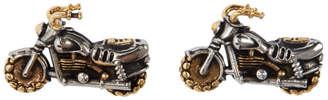 Paul Smith Gold and Silver Motorbike Cufflinks