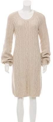 Malo Cashmere Midi Dress