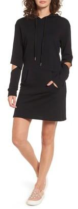 Women's Socialite Cutout Sleeve Hoodie Dress $49 thestylecure.com