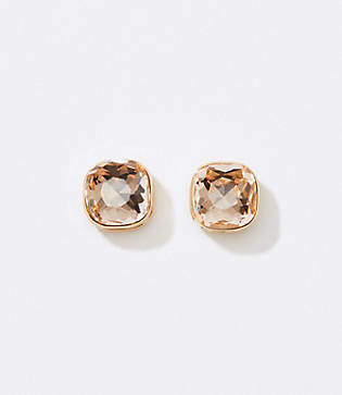 LOFT Rounded Square Stud Earrings