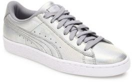 PUMA Basket Holographic Leather Sneakers $75 thestylecure.com