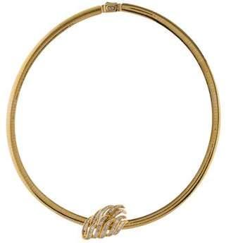 14K Diamond Reversible Pendant Necklace