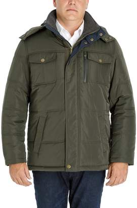 London Fog Big & Tall Men's Towne Quilted Hooded Parka