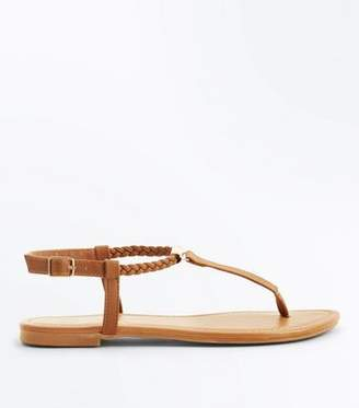cc6e3389c47ea4 Leather Strap Flat Sandals Tan - ShopStyle UK