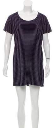 Current/Elliott Striped Short Sleeve Dress Navy Striped Short Sleeve Dress