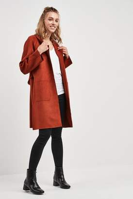 Next Womens F&F Brick Suedette Duster Coat