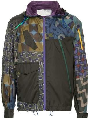 Kolor multi print hooded jacket
