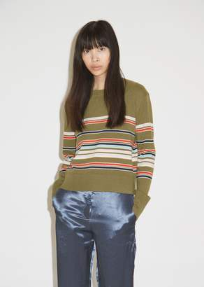 Sies Marjan Freddy Wool and Cashmere Striped Cropped Sweater