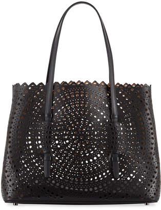 Alaia Mina Medium Laser-Cut Leather Tote Bag