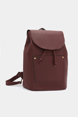 Ardene Basic Faux Leather Drawstring Backpack