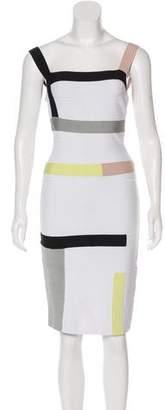 Herve Leger Colorblock Bandage Dress