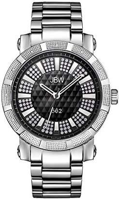 "JBW Men's JB-6225-B 562"" Pave Dial Stainless Steel Diamond Watch"