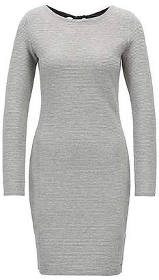 HUGO BOSS Bodycon dress in ottoman jersey with bow-detail back