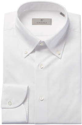 Canali Slim Fit Woven Dress Shirt