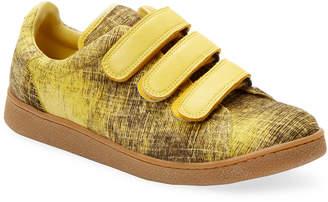 Jerome Dreyfuss Run Print Leather Sneaker