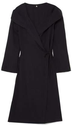 SU Paris - Memo Cotton-gauze Hooded Robe - Black