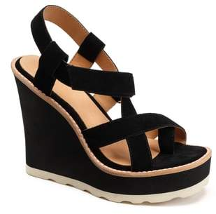 Bill Blass Rae Strappy Wedge Sandal