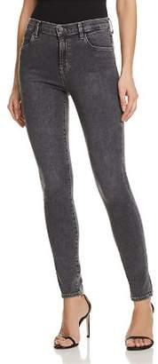 J Brand Maria High Rise Skinny Jeans in Obscura
