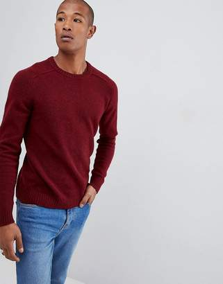 Selected Knitted Sweater In 100% Lambswool