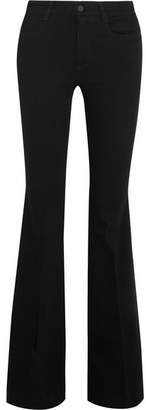 Stella McCartney The '70s Mid-rise Flared Jeans - Black