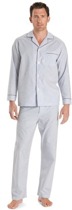 Brooks Brothers Wrinkle-Resistant Blue Stripe Pajamas