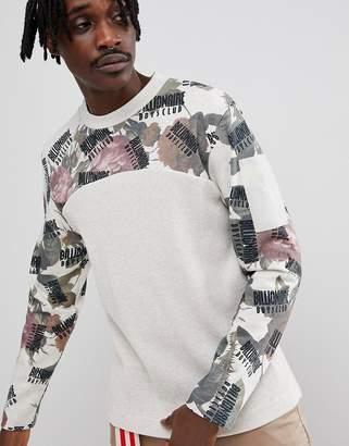 Billionaire Boys Club Long Sleeve T-Shirt With Floral Print