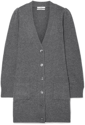 Co Wool And Cashmere-blend Cardigan - Gray