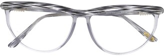 Versace Pre-Owned oval frame glasses