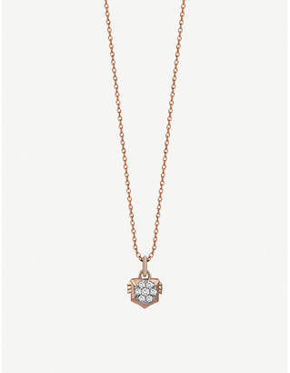 Rosegold The Alkemistry Kismet By Milka Leo 14ct rose-gold and diamond necklace