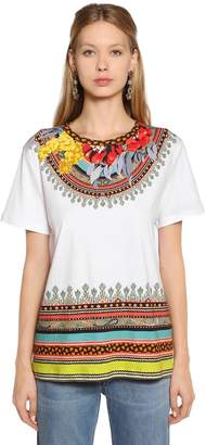 Etro Floral Printed Jersey T-Shirt