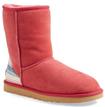 UGGUGG Australia &Classic Short - Serape& Water Resistant Genuine Shearling Boot (Women)