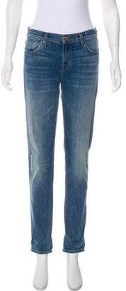 J Brand Light Wash Mid-Rise Skinny Jeans