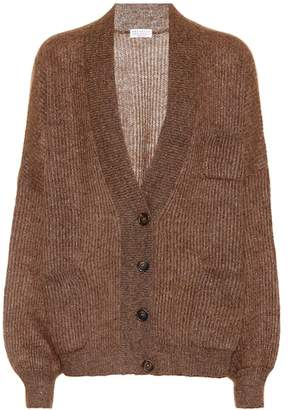Brunello Cucinelli Metallic mohair-blend cardigan
