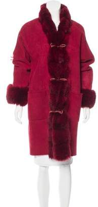 Giuliana Teso Fox-Trimmed Shearling Coat