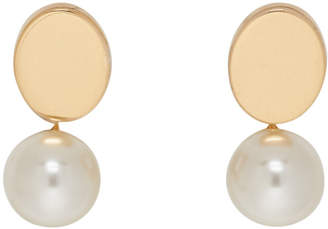 Chloé Gold and Pearl Large Round Darcey Earrings