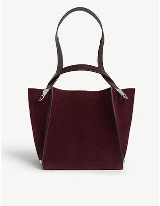 Sophie Hulme The Exchange suede cube tote