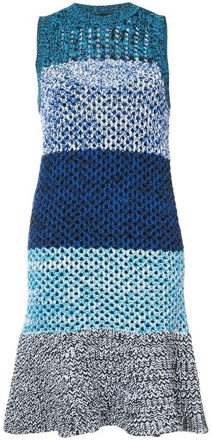 Derek Lam 10 Crosby Sleeveless Colorblocked Gradient Knit Dress