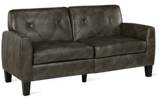 Dorel Living Clement Small Spaces Sofa, Dark Taupe