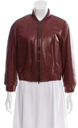 Reed Krakoff Leather Bomber Jacket