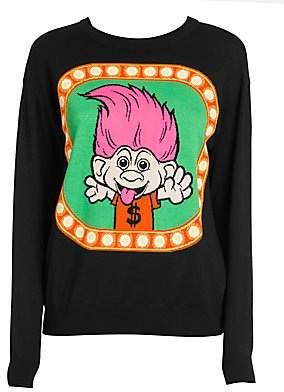 Moschino Women's Troll Crewneck Sweater