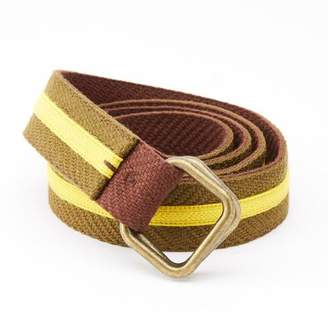 Blade + Blue Olive & Gold Stripe Belt by One Magnificent Beast